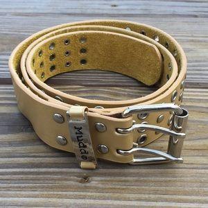 Mudd Grommet Genuine Leather Belt Adjustable